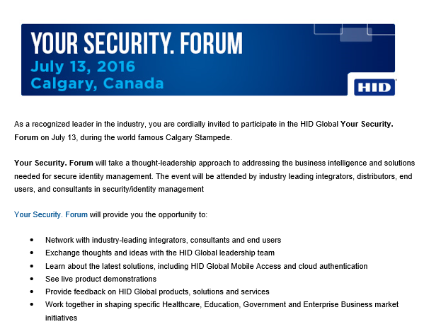 Security Forum 13 July 2016